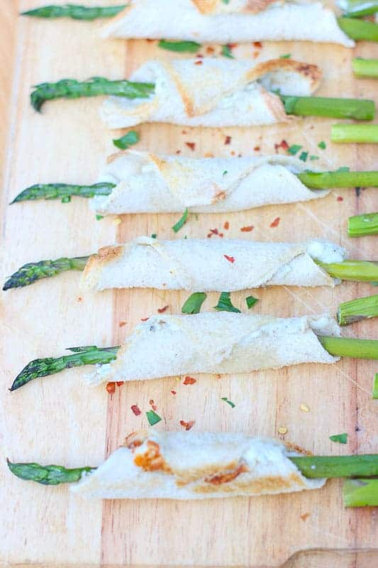 Asparagus and Blue Cheese Rollups