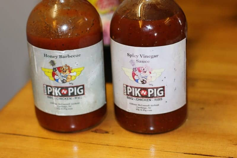 Homemade sauce at the Pic-n-pig