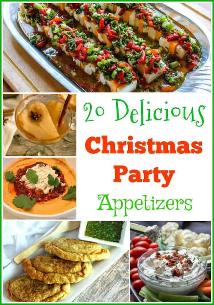 These 20 Delicious Christmas Party Appetizers will make your party a very merry good time!