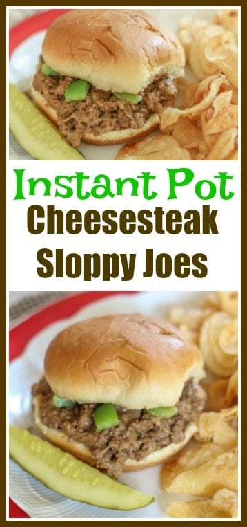 This#InstantPot #Cheesesteak #SloppyJoes Recipe is fast and delicious. This Instant Pot Recipe makes the perfect meal for the busy weeknights that your whole family will enjoy.