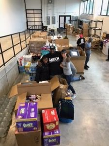 Collecting Donations for Victims of Hurricane Harvey