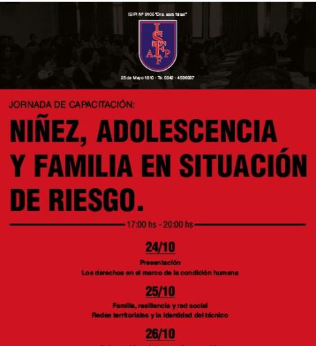 Jornada de Capacitación: Niñez, Adolescencia y Familia en situación de riesgo