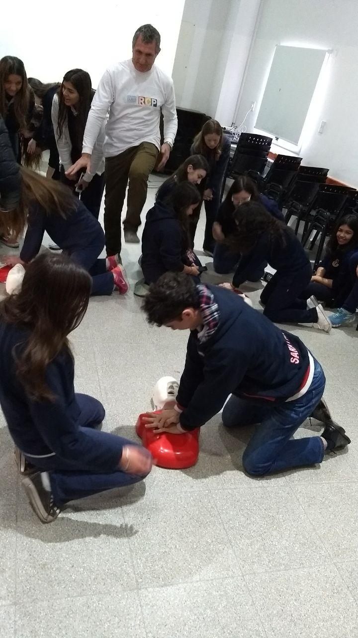 Campaña Reanimación Cardiopulmonar en las escuelas