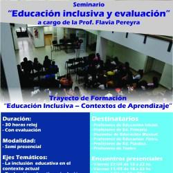"""Seminario """"Educación inclusiva y evaluación"""""""