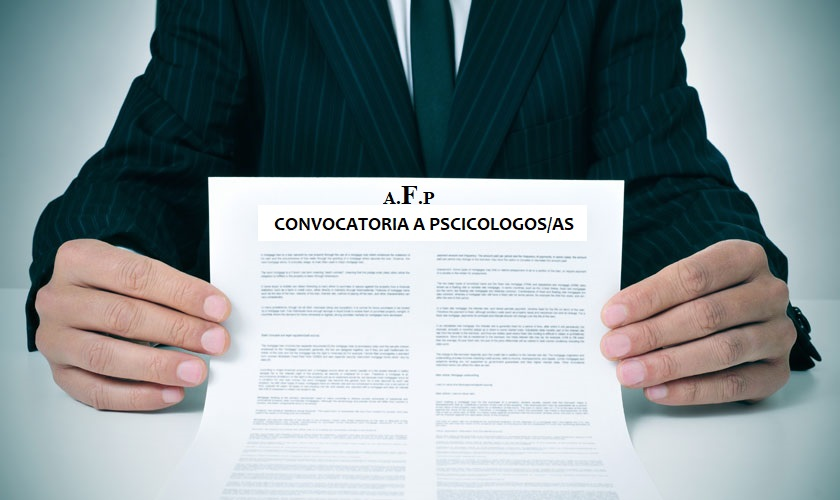 Convocatoria a Psicólogos/as