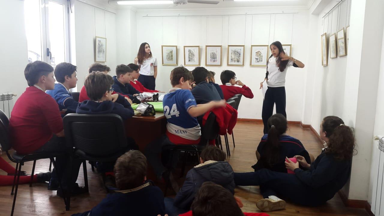 Los alumnos de 7° Grado visitaron la Muestra «Acuarelas»
