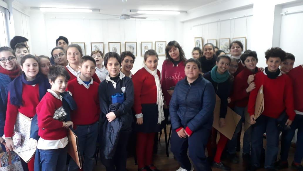 Visita de 6° Grado a la Muestra «Acuarela»