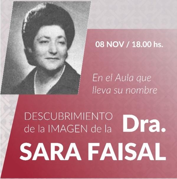 Inauguración del AUla «Sara Faisal» en la Facultad de Cs. Jurídicas y Sociales de la U.N.L.