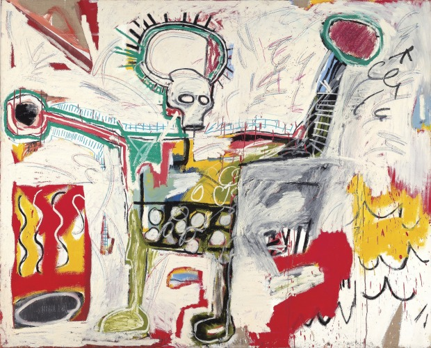 Jean-Michel Basquiat's 'Untitled', 1982, acrylic and oil on linen, 193 x 239cm Museum Boijmans Van Beuningen, Rotterdam