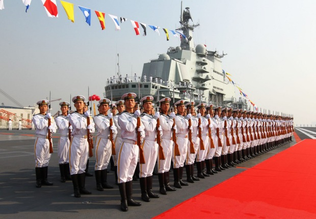 Challenge to western order: Chinese troops on parade.