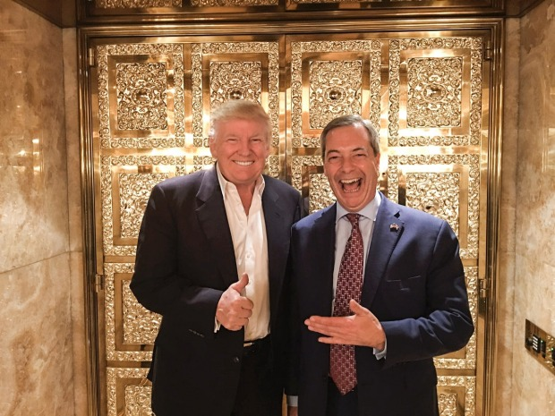 Image result for photos of farage and trump