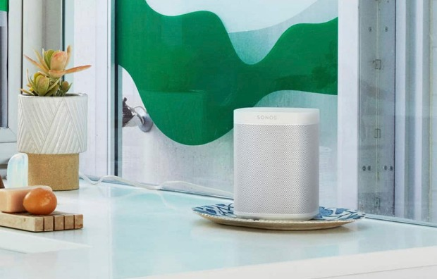 As long as Sonos's multi-room speaker, the One, is within range of your voice, it will function well.