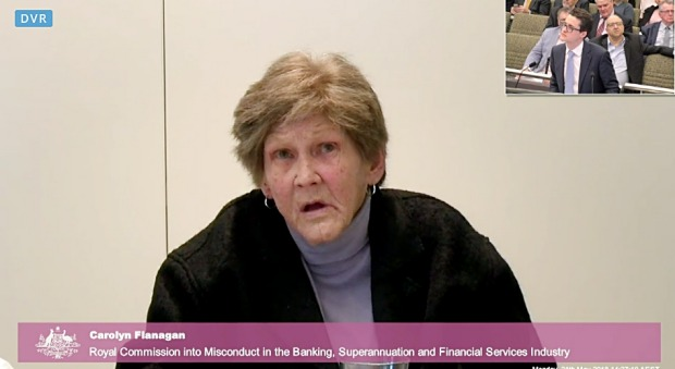 Carolyn Flanagan being questioned by senior counsel assisting Michael Hodge, QC, at the inquiry on May 21.