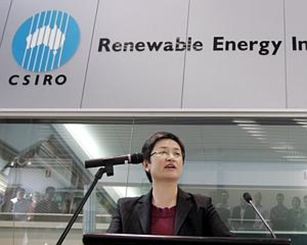 Penny Wong, then minister for climate change, energy efficiency and water, launches smart electricity grids, June, 2010.