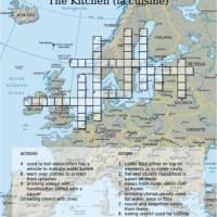 French Crossword Puzzle – La Cuisine