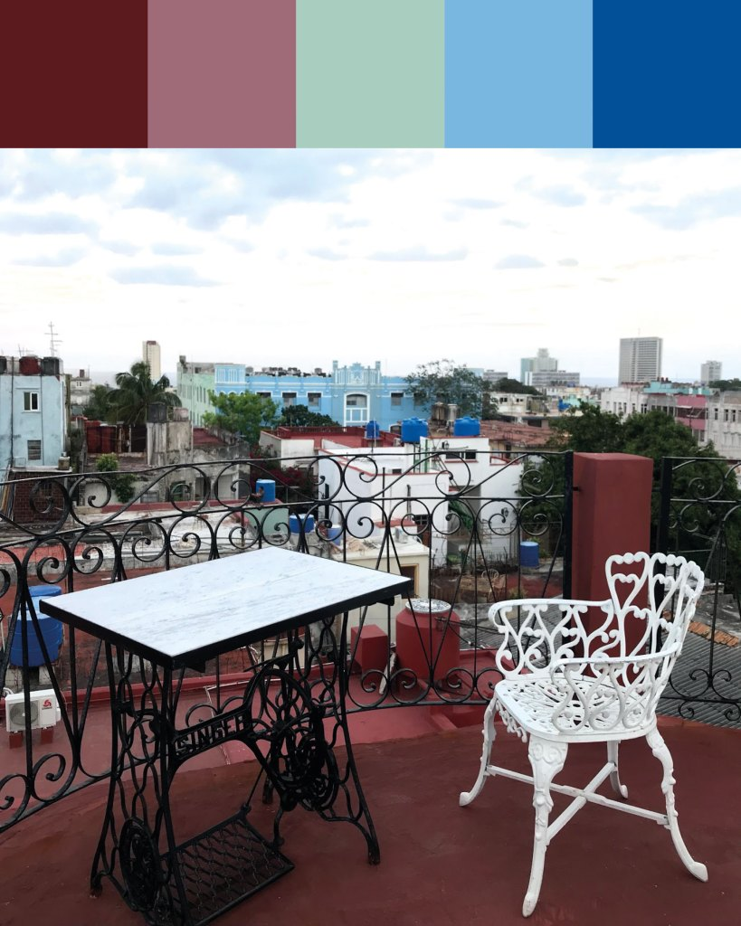 Cuban colour palette inspiration: Havana rooftops