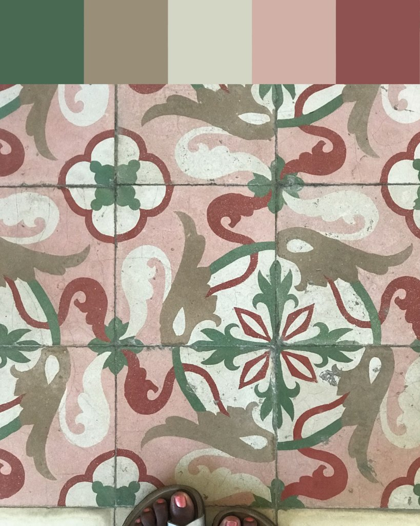 Cuban colour palette inspiration: Havana tiles