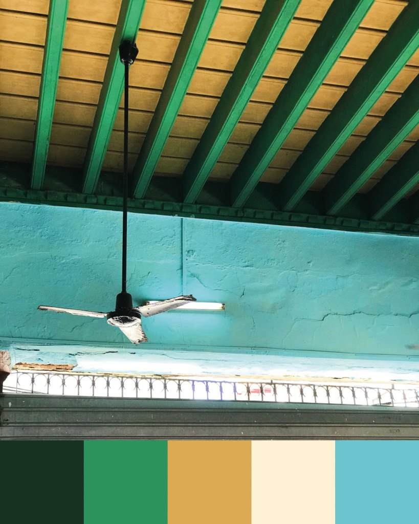 Cuban colour palette inspiration: Old town Havana ceiling