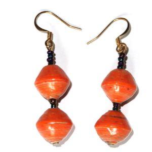 Handmade Exquisite Orange Earrings