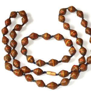 Rich Chocolate Brown Necklace Bracelet Set