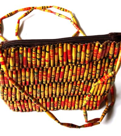 Handmade Vintage Yellow Red Bead Handbags