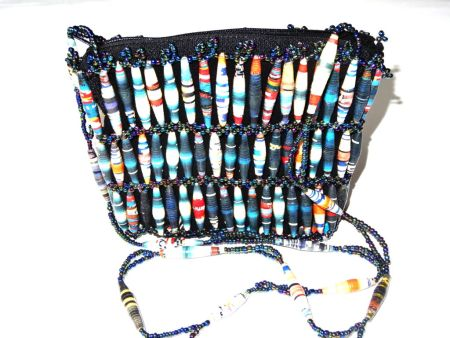 Handmade Beaded Dark Blue Bead Handbags