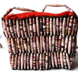 Handmade Beaded Essential Pink Bead Handbags