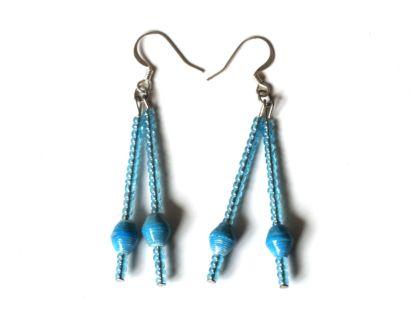 Handmade Dreamy Blue Earring