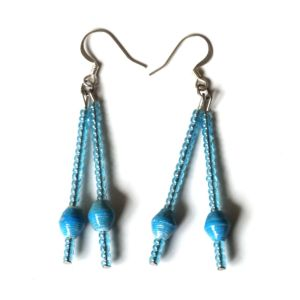Handmade Dreamy Blue Earring