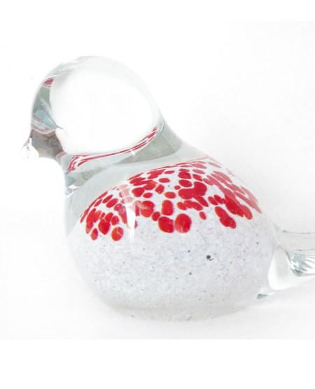 Glass Bird Clear Red Spots