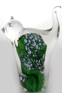 Green Glass Cat
