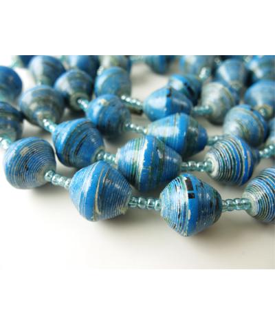 Glossy Light Blue Necklace