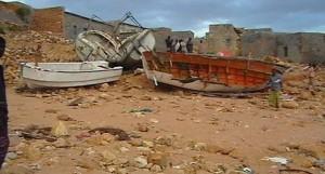 Barca danneggiate