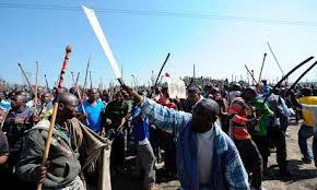 Manifestazione minatori