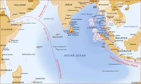 Mappa Indian Ocean