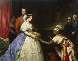NPG 4969; 'The Secret of England's Greatness' (Queen Victoria presenting a Bible in the Audience Chamber at Windsor) by Thomas Jones Barker