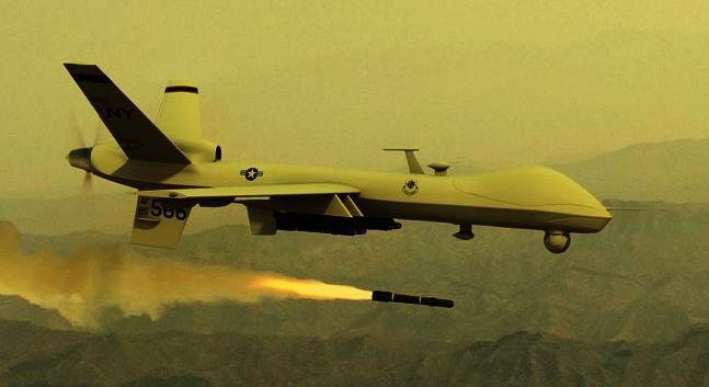 Drone lancia missile