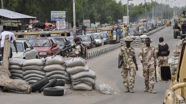 barricate a Maiduguri