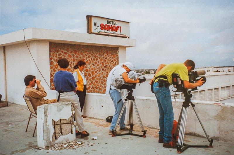 Cameramen on the roof