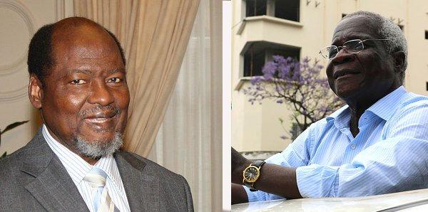 Joaquim Chissano e Afonso Dhlakama, firmatari dell'accordo di pace a Roma nel 1992