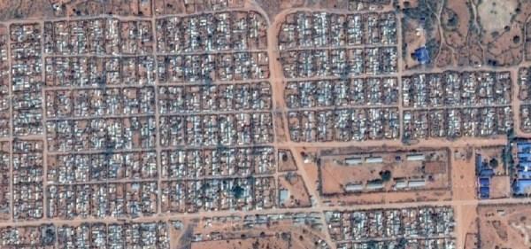 Vista dal satellite del Campo profughi Dadaab (courtesy Google Map)