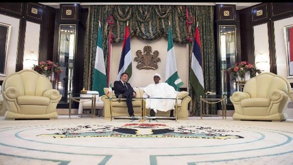Renti e il presidente nigeriano Mohammadu Buhari