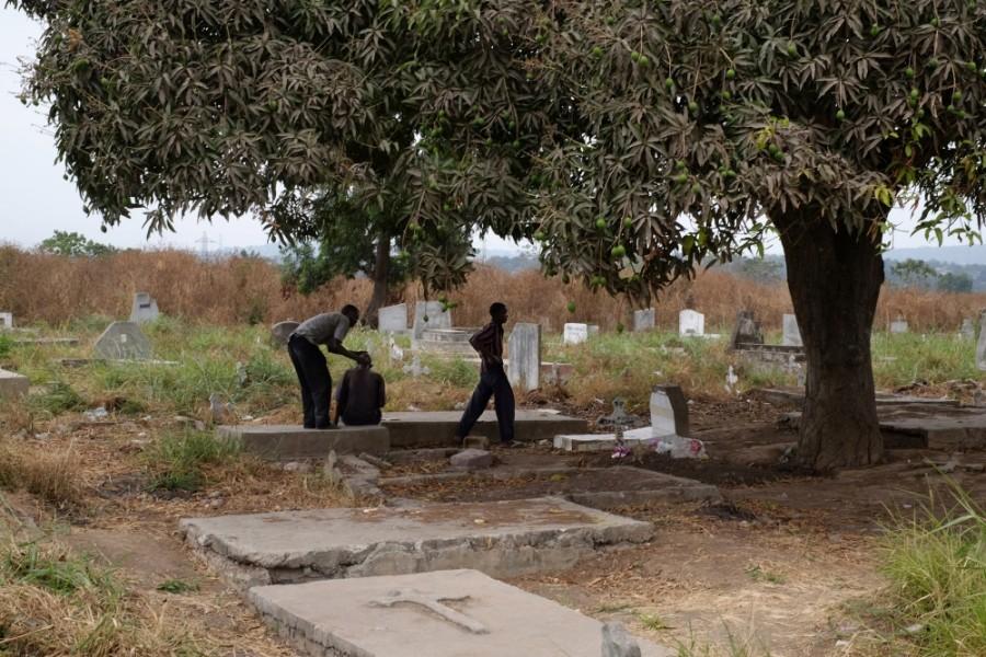 The Kinsuka cemetery