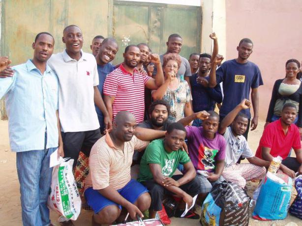 Il gruppo di giovani dissidenti prima dell'arresto nel giugno scorso