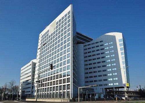 la sede della Corte Penale Internazionale a l'Aia, in Olanda