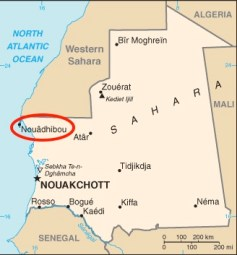 Mappa della Mauritania