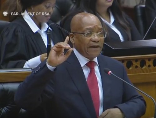 Jacob Zuma in parlamento