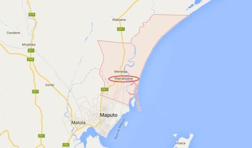 Mappa dell distretto di Marracuene