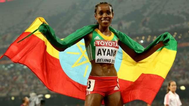 L'etiope Almaz Ayana vincitrice del 10 mila metri femminili
