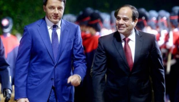 Renzi e Al Sisi